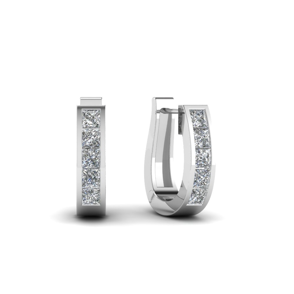 Small Diamond Hoop Earrings (0.60 Ct.)