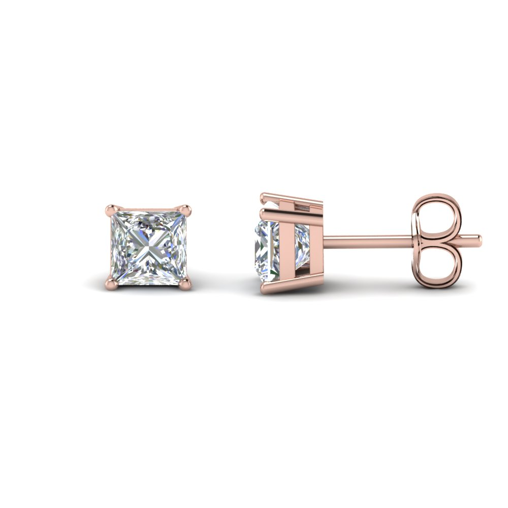 3 Carat Princess Diamond Earring