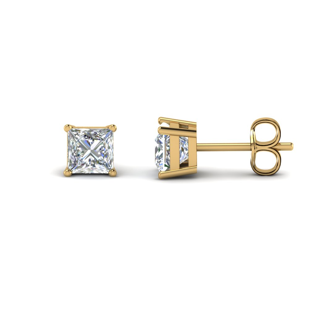 Princess Diamond Stud Earring
