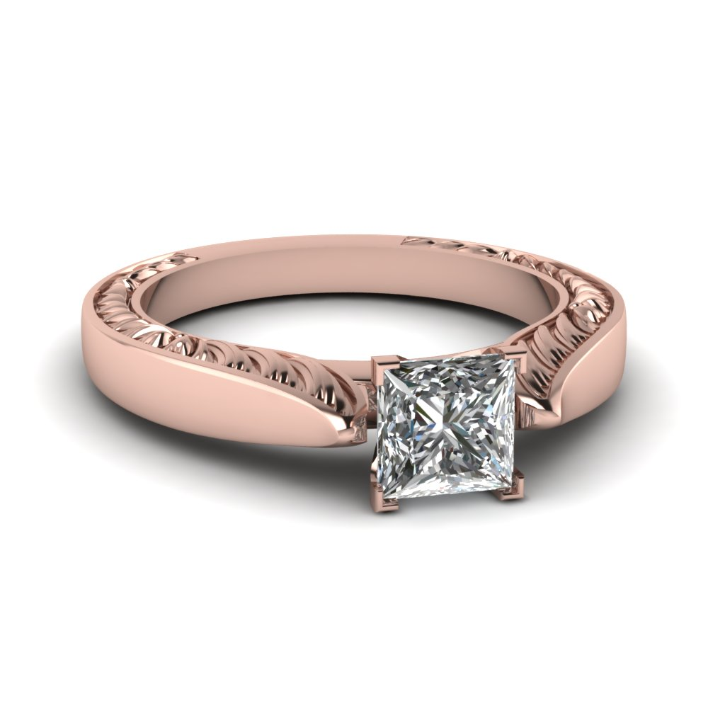 Princess Cut Single Stone Rings
