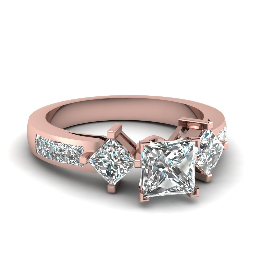 princess cut diamond engagement ring in 14k rose gold. Black Bedroom Furniture Sets. Home Design Ideas
