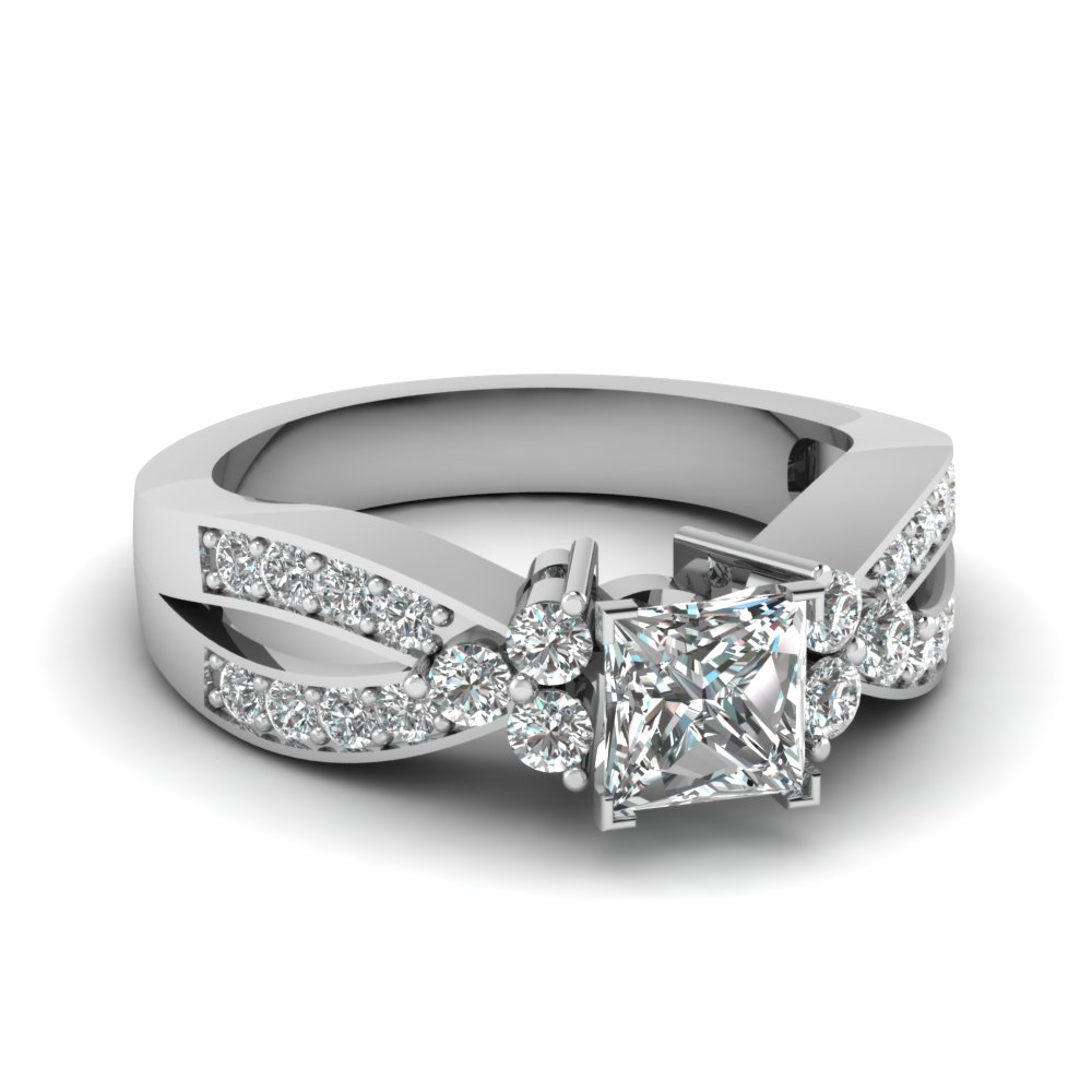 1 Carat Princess Cut Diamond Ring For Women