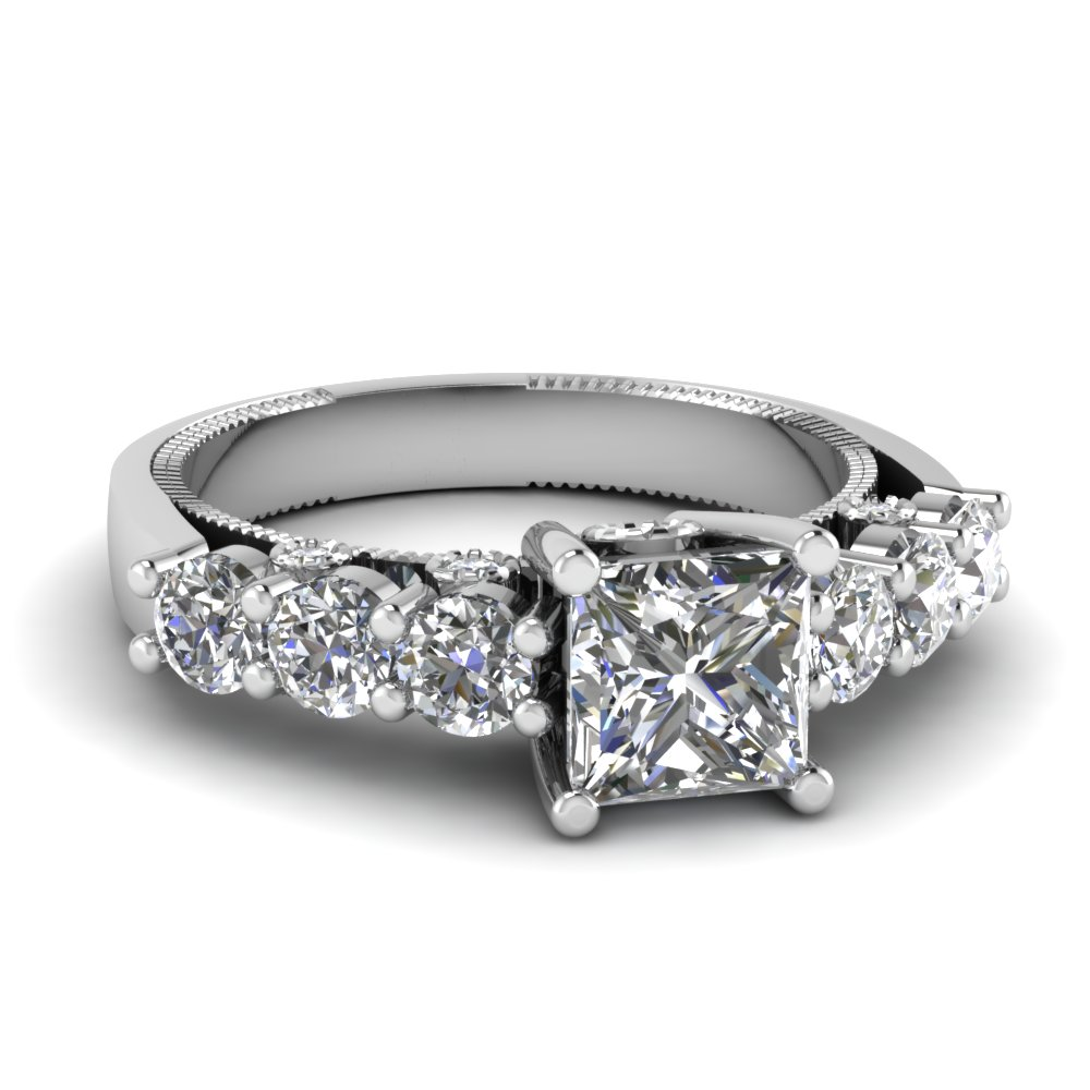 Big Princess Cut Diamond Rings