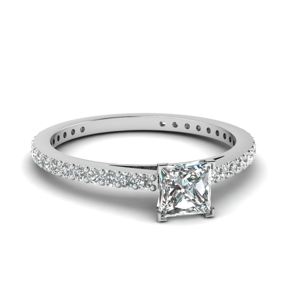 princess-cut-diamond-engagement-ring-in-14K-white-gold-FDENS1425PRR-NL-WG