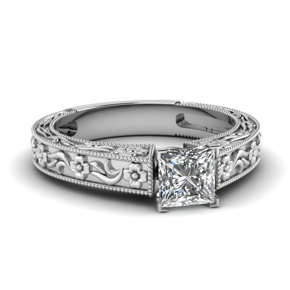 princess cut diamond vintage solitaire ring in FDENS3504PRR NL WG.jpg