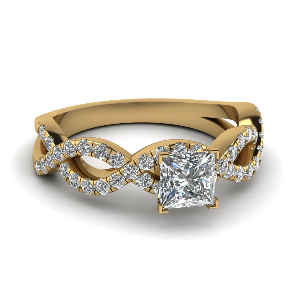 Gold Infinity Engagement Rings