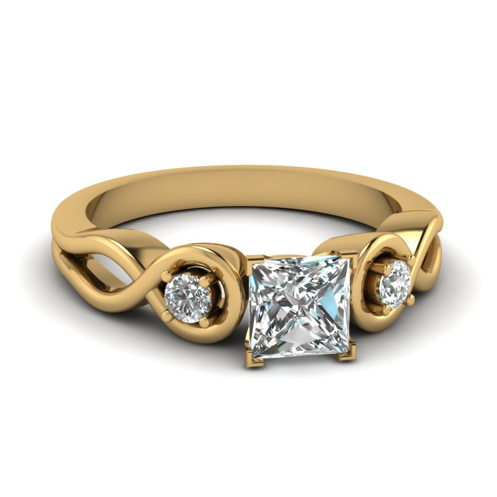 Infinity Princess Three Stone Ring