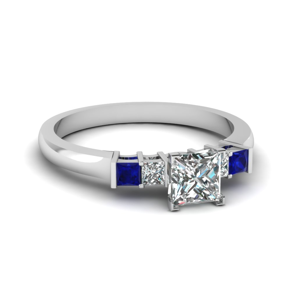 Delicate Sapphire Wedding Ring