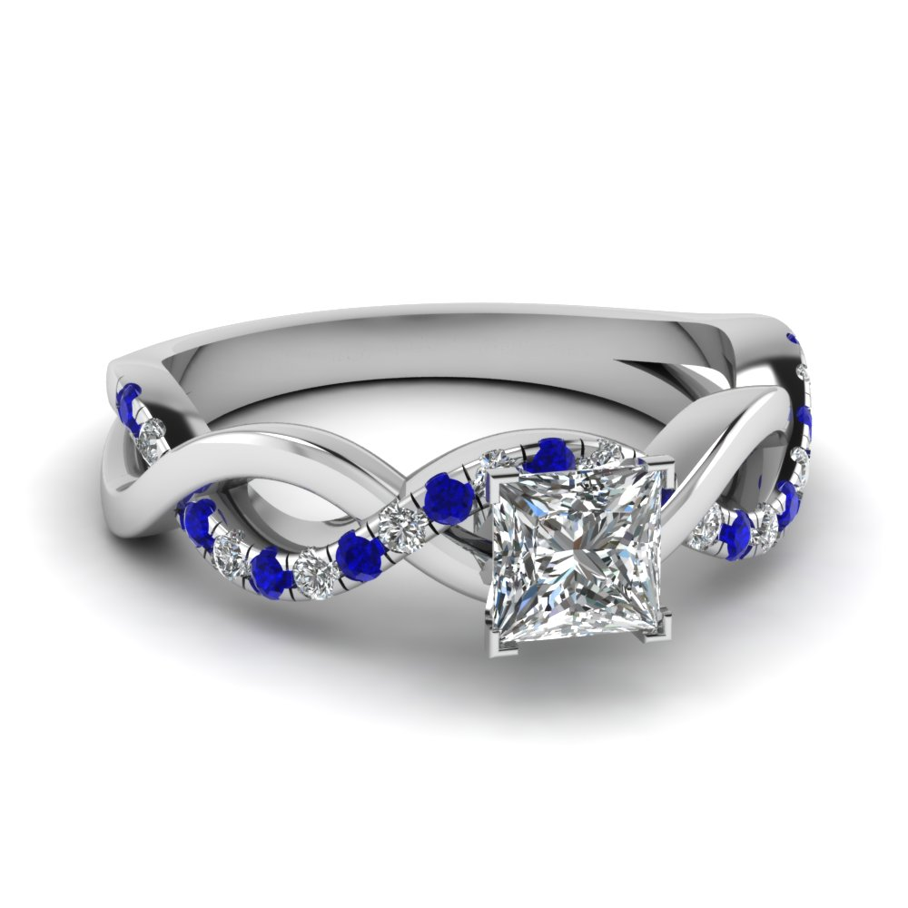 wedding sapphire diamond infinity blue white with princess in nl wg side ring engagement stone cut jewelry gold rings