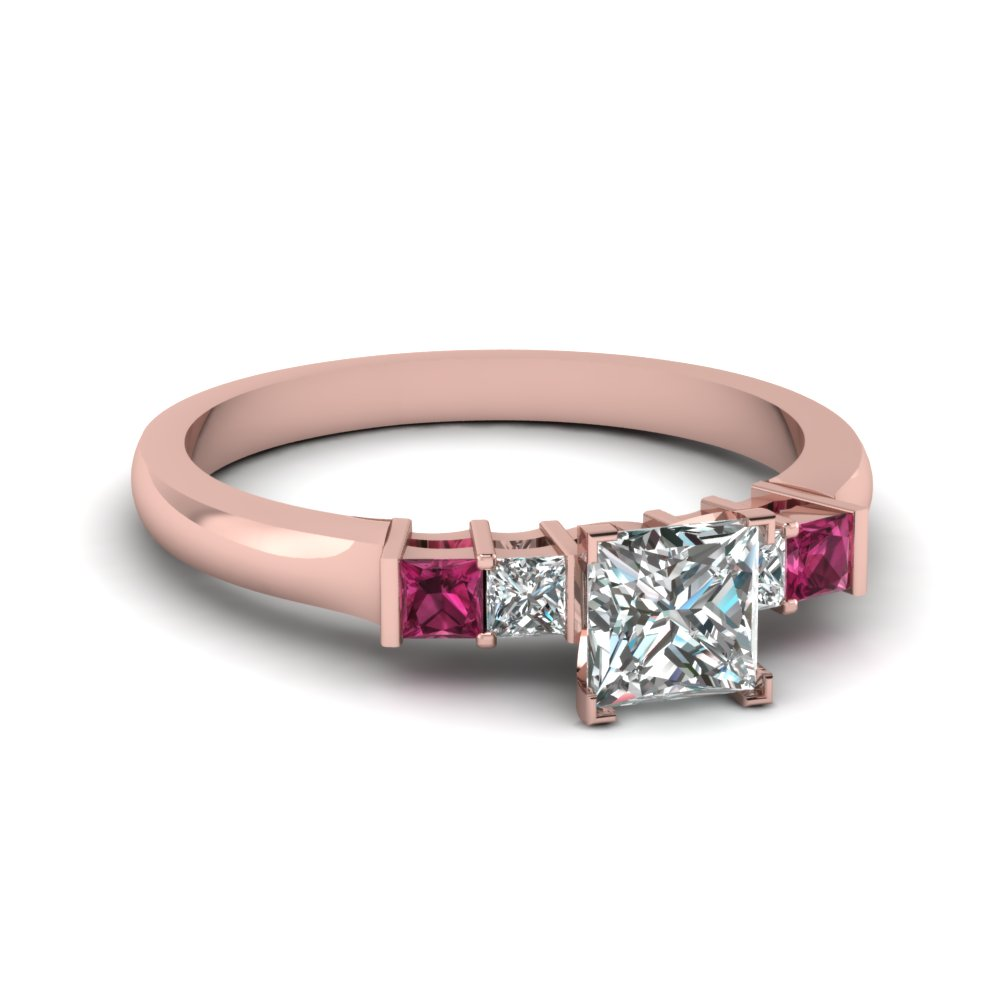 Rose Gold 5 Stone Ring