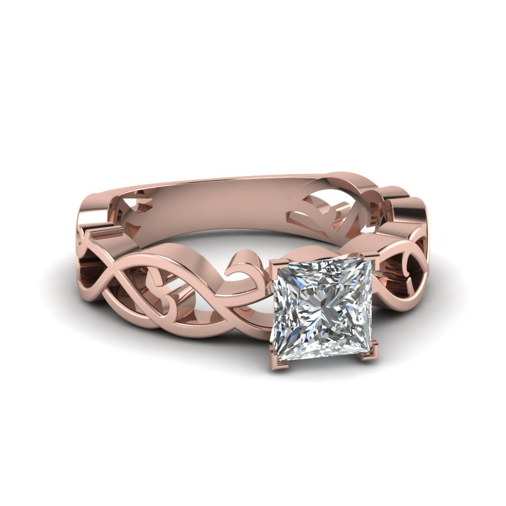 Intricate Solitaire Engagement Ring