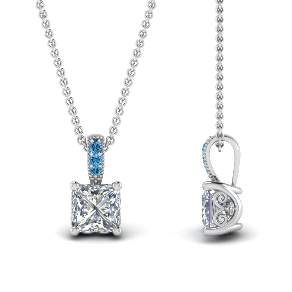Platinum Princess Diamond Pendant