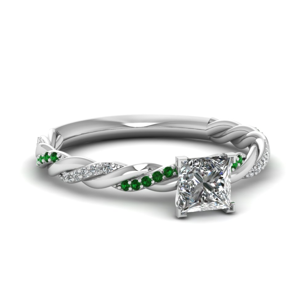princess-cut-diamond-sequined-braid-halo-ring-with-green-emerald-in-14K-white-gold-FD122673PRRGEMGR-NL-WG