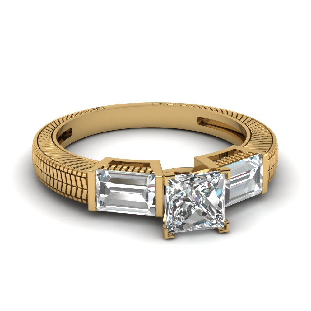 Past Present Future Princess Cut Ring