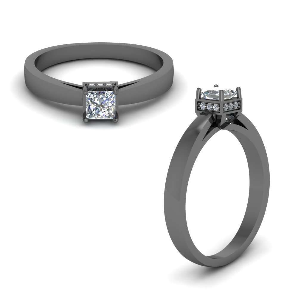 Black Gold Engagement Rings Fascinating Diamonds