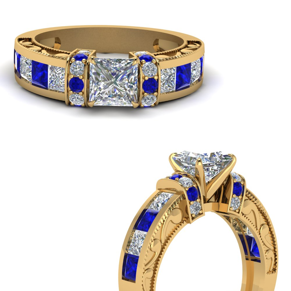 antique-design-pave-wrap-princess-cut-diamond-ring-with-sapphire-in-FDENR1810PRRGSABLANGLE3-NL-YG