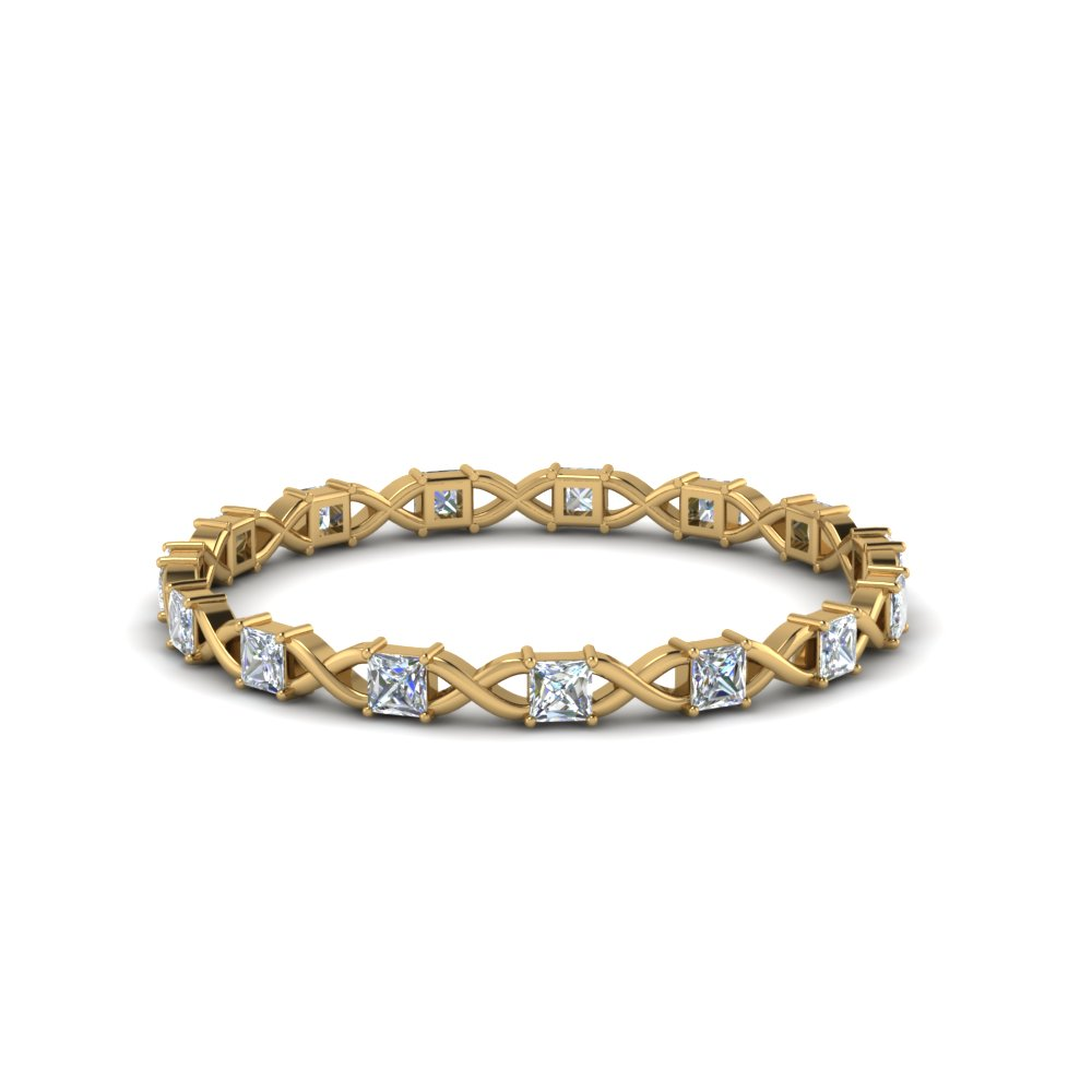 Princess Diamond Thin Eternity Band