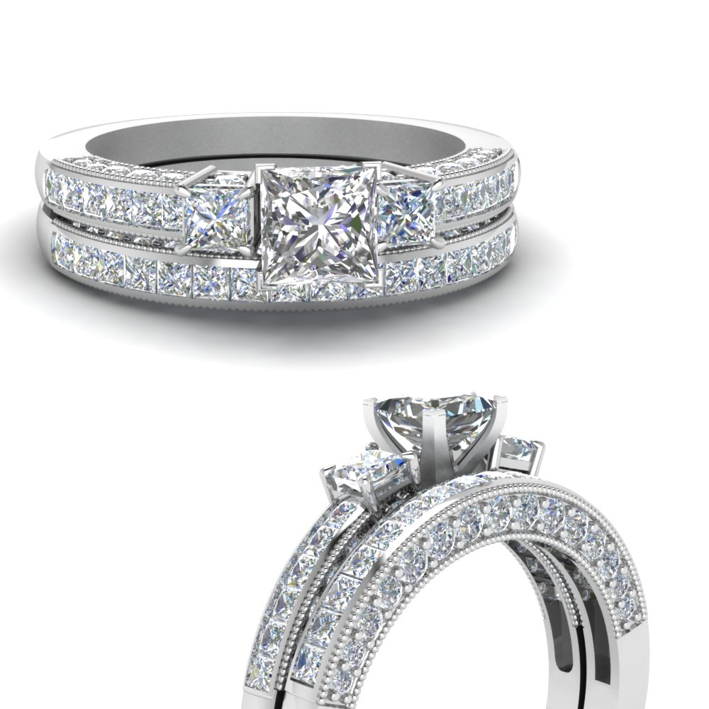 princess-cut-diamond-three-stone-channel-bridal-set-in-14K-white-gold-FDENS1186PRANGLE3-NL-WG