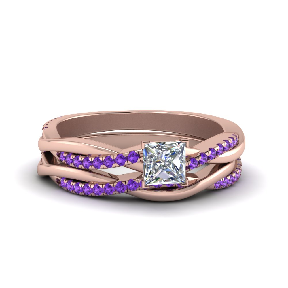 Twisted Vine Wedding Ring Set