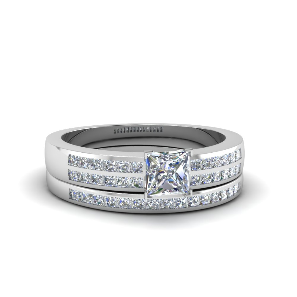 princess cut double row channel diamond wide bridal set in FDENS3122PR NL WG.jpg
