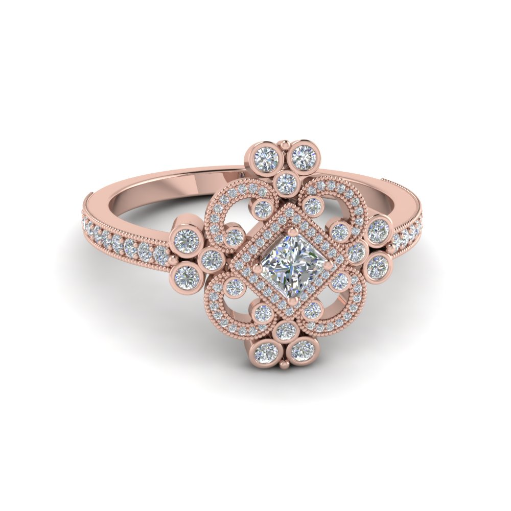buy affordable vintage rose gold engagement rings online fascinating diamonds. Black Bedroom Furniture Sets. Home Design Ideas
