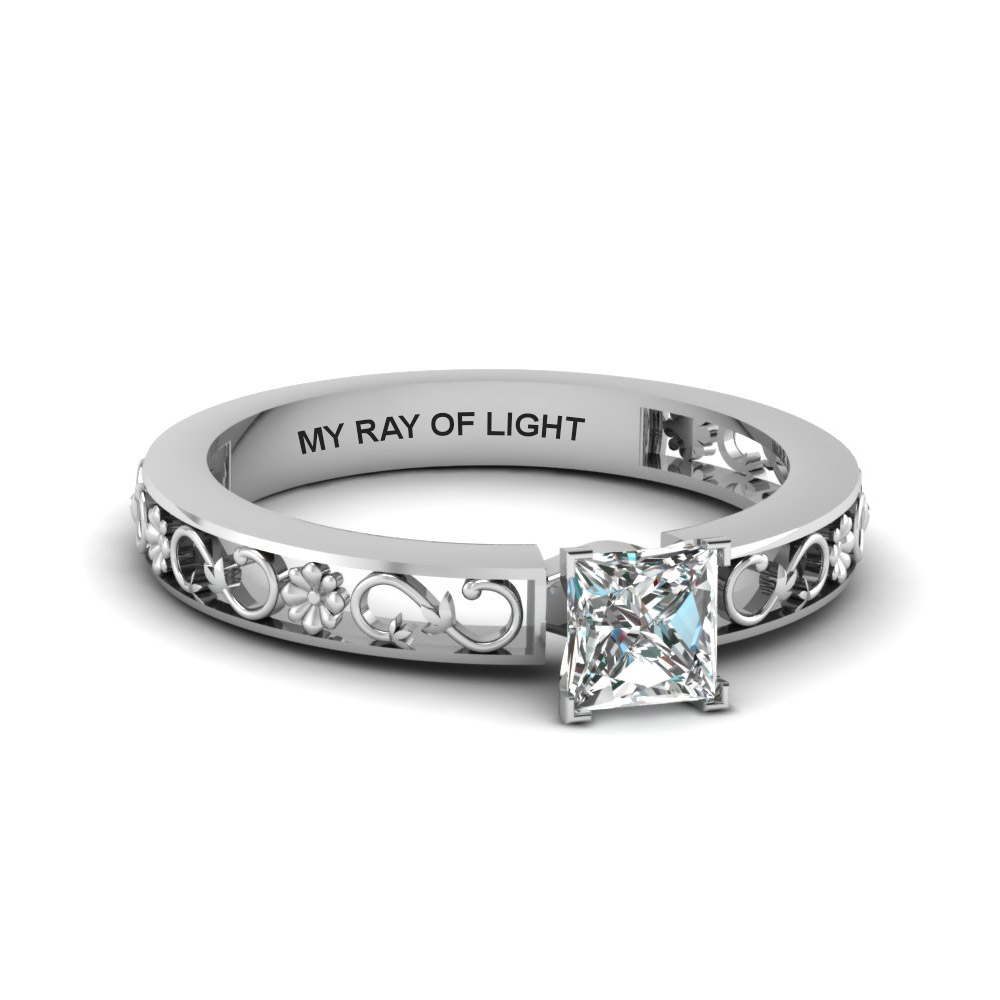Princess Cut Solitaire Engagement Rings