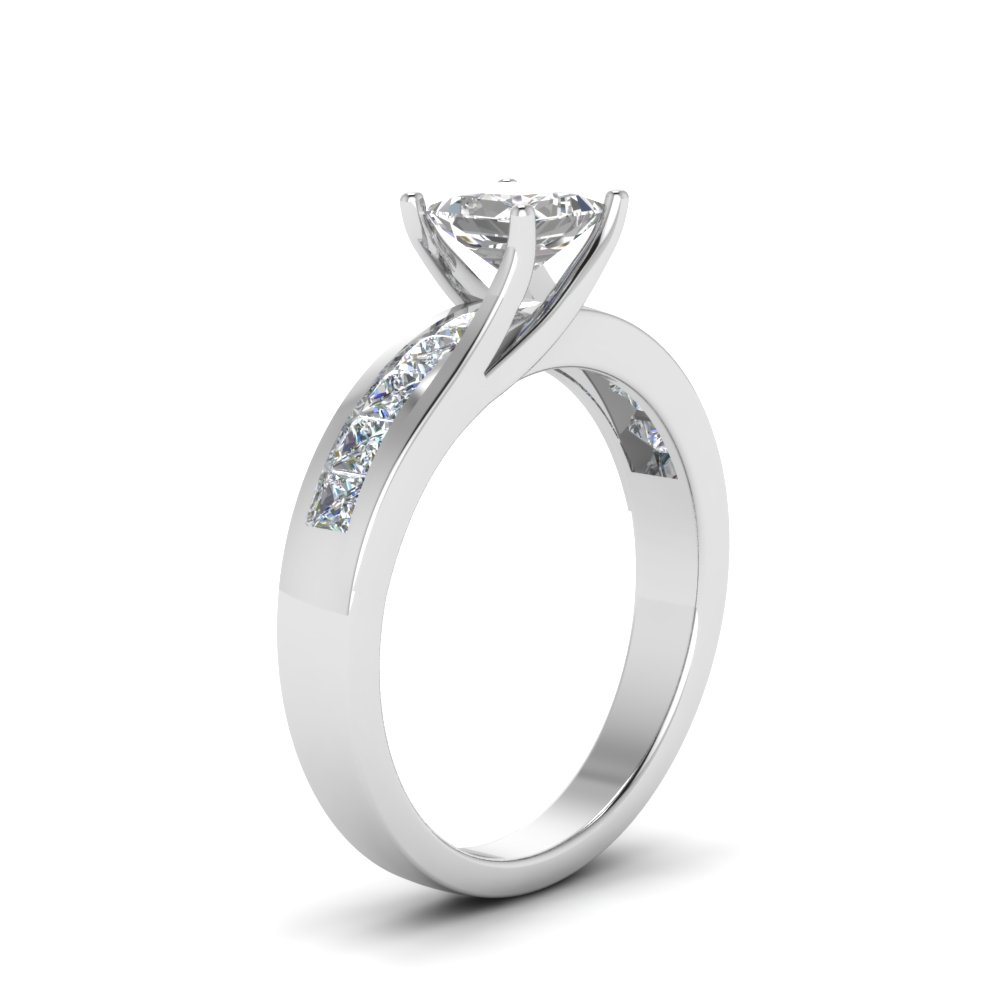 Princess Cut High Set Ring