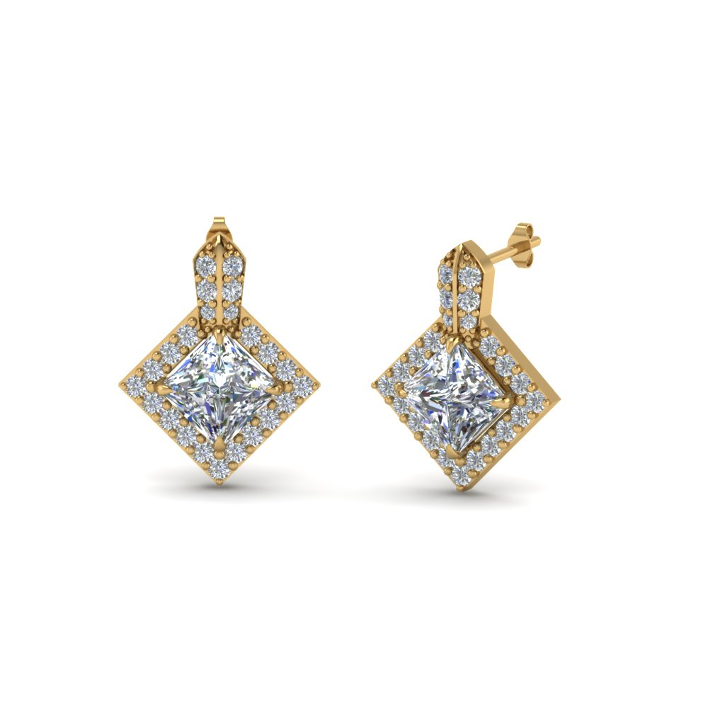 Shop For Affordable Princess Cut Earrings | Fascinating Diamonds