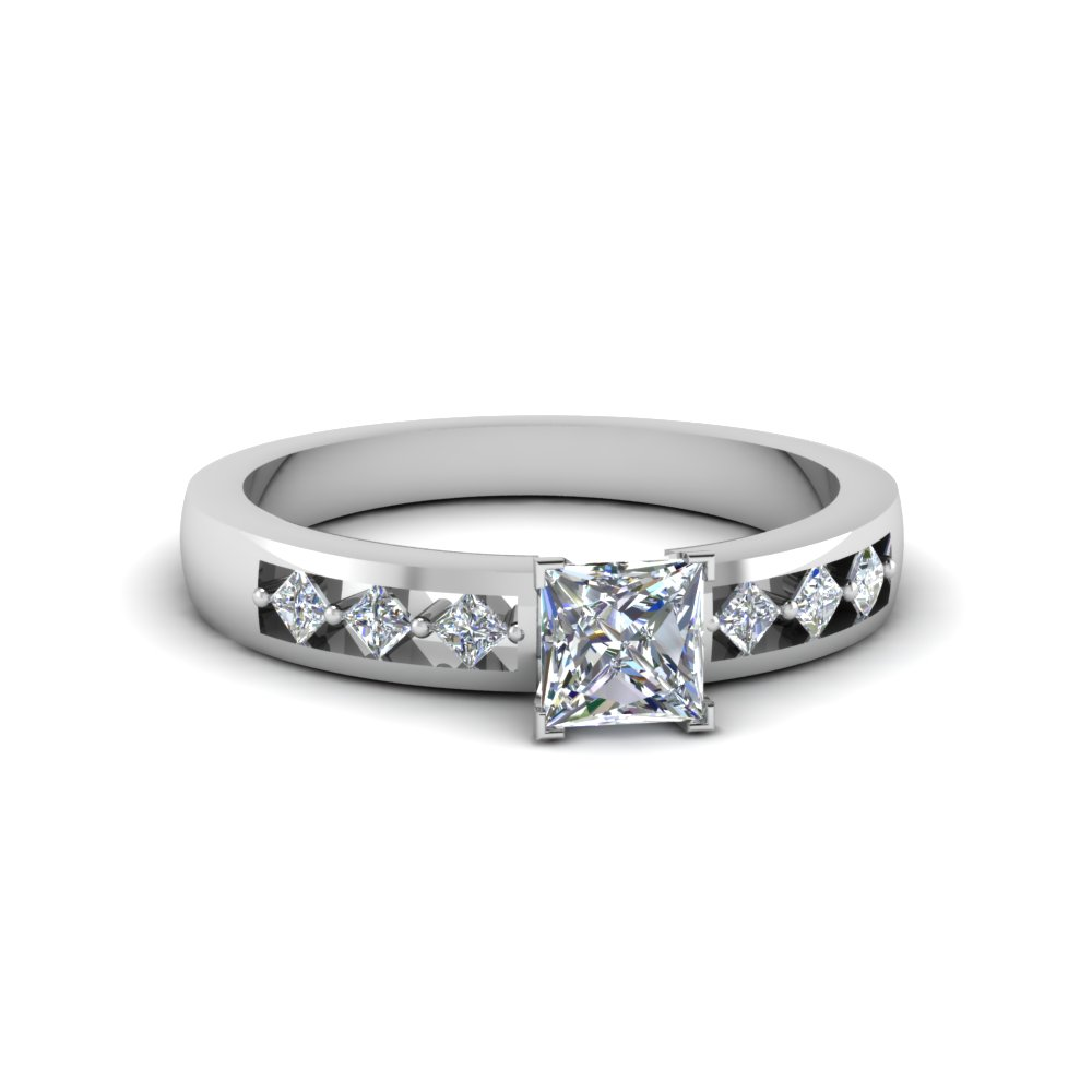 Kite Set Diamond Engagement Ring