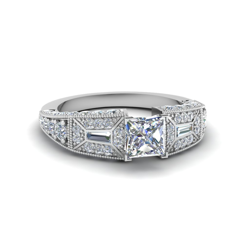 Princess Cut Vintage Diamond Rings
