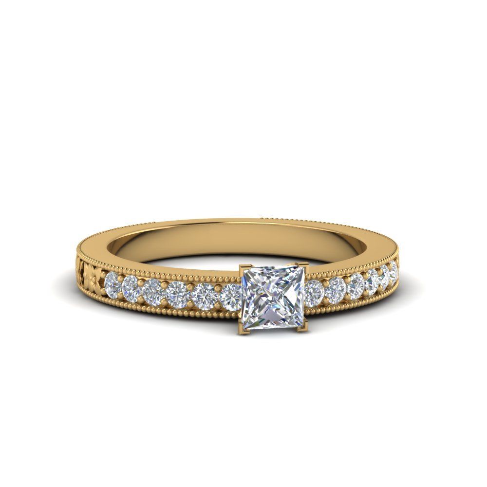 Milgrain Engagement Rings