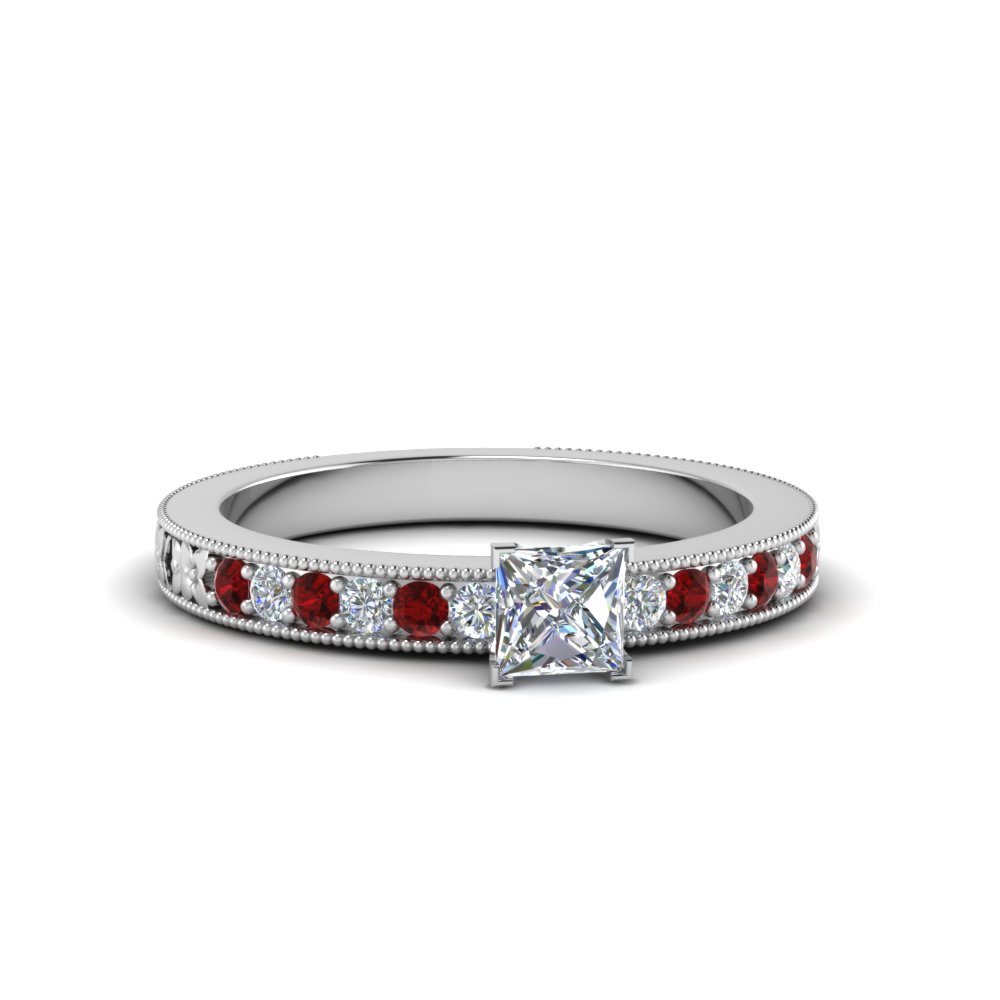Pave Diamond Ring With Milgrain