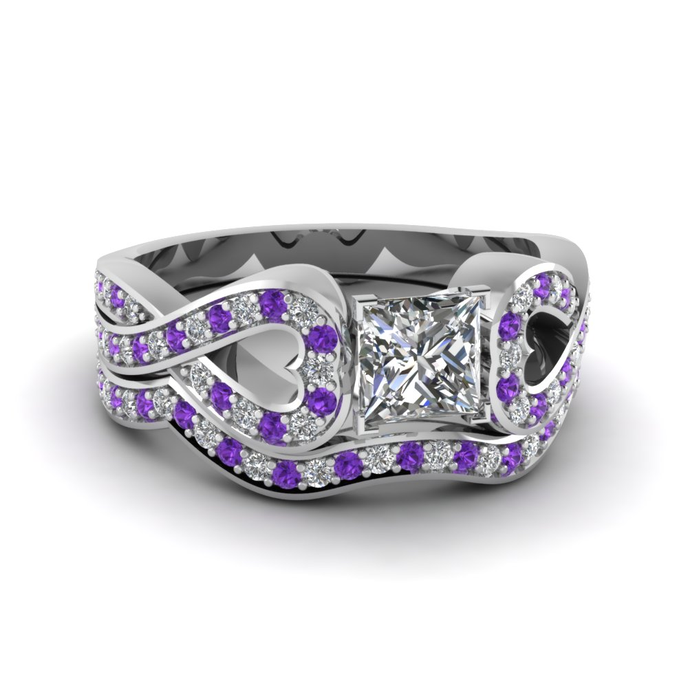 diamonds wedding engagement stone purple rings anglo