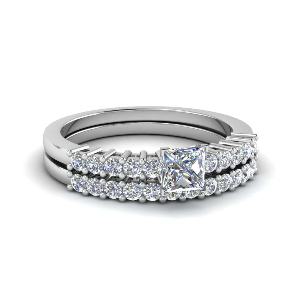 Basket Prong Wedding Set