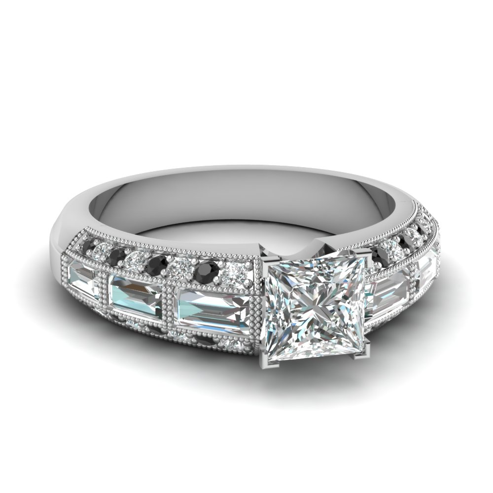 Princess Cut Vintage Engagement Rings