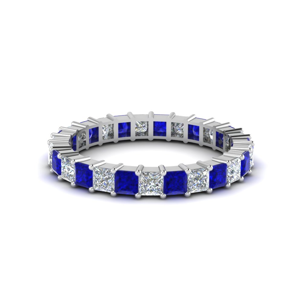 Princess Cut Diamond Band For Women
