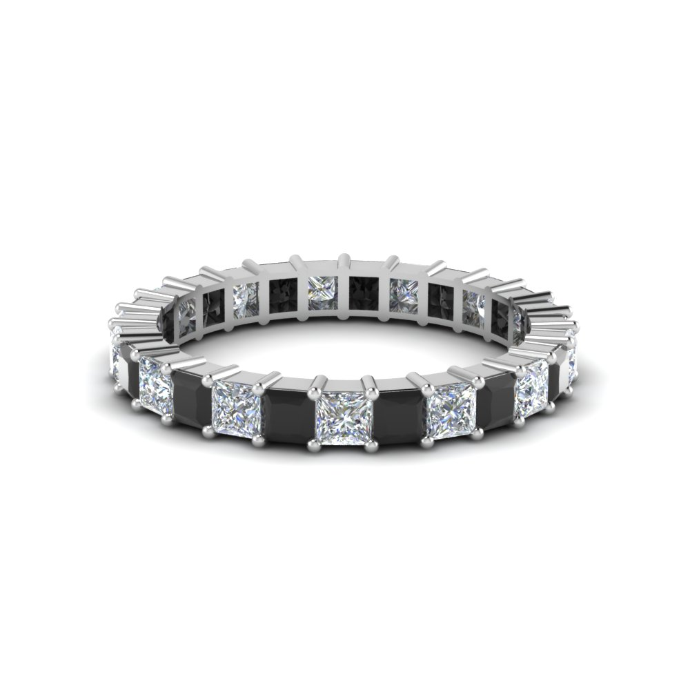 Princess Cut Diamond Shared Prong Eternity Band