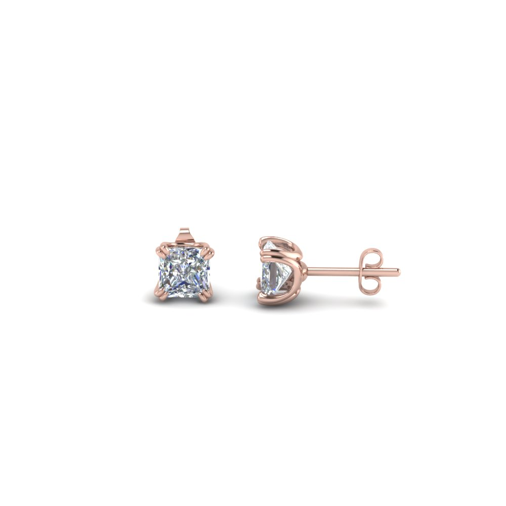 0.50 Carat Princess Cut Stud Earring