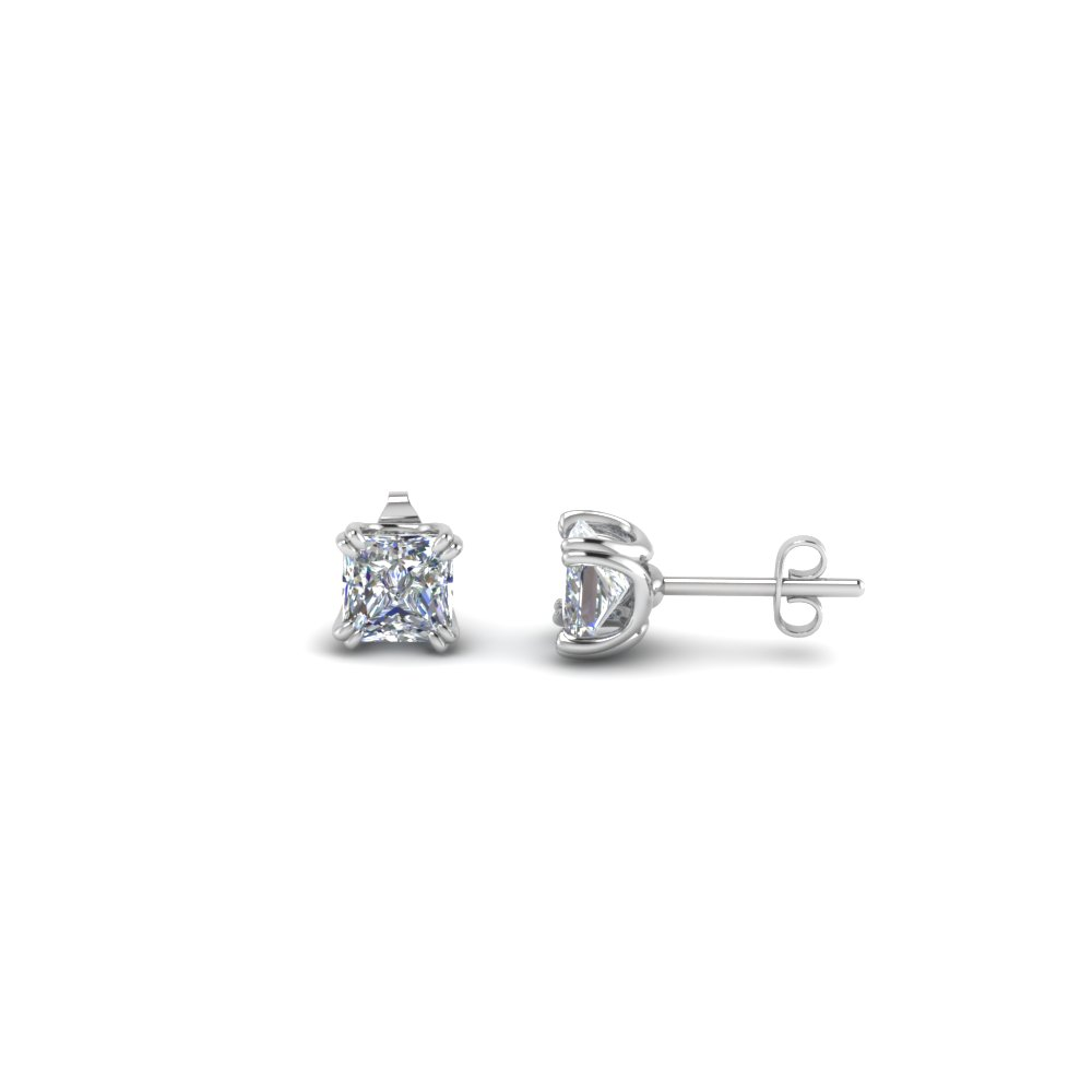 Princess Cut Single Stud Earring(0.50 Carat)