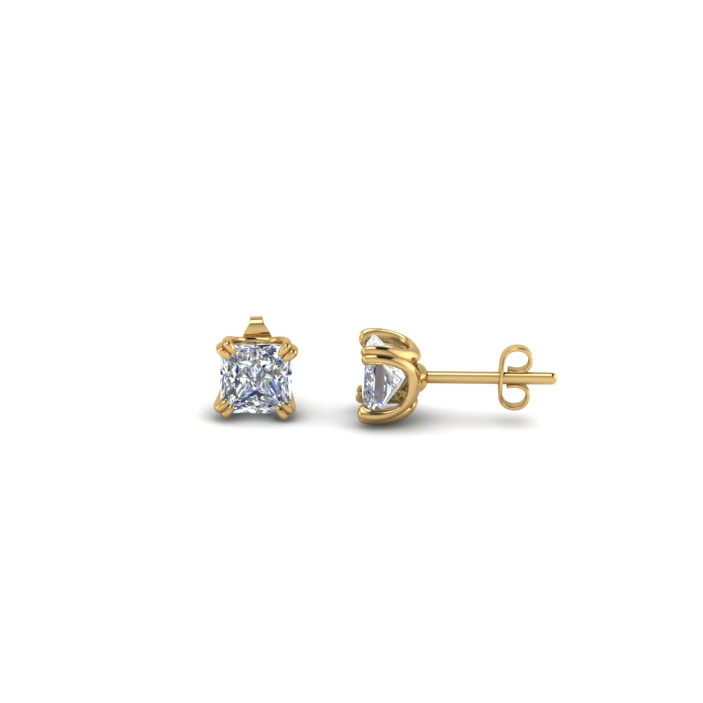 princess cut single stud earring(0.50 carat) in 14K yellow gold FDEAR8461PR 0.50CT NL YG