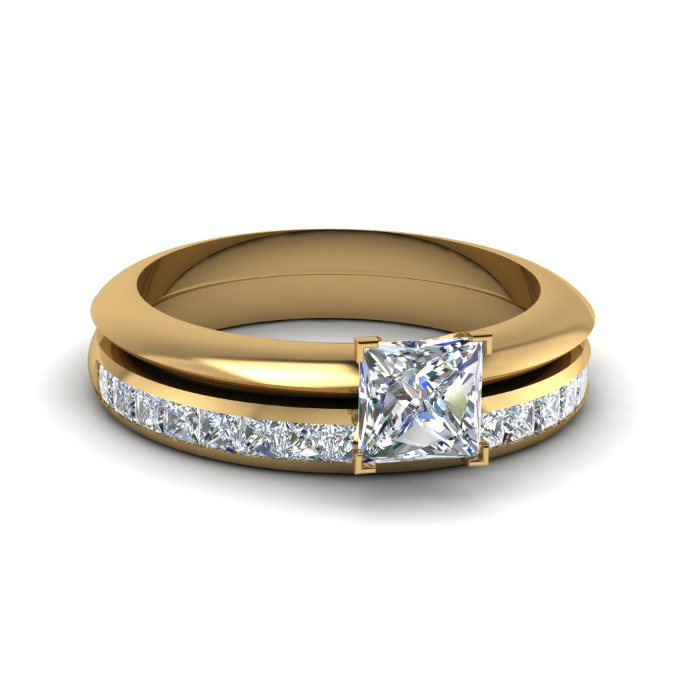 Solitaire Ring With Channel Set Band