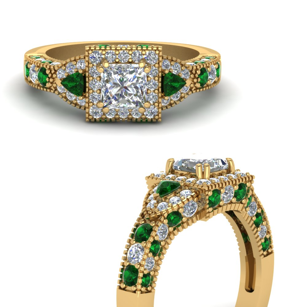 square-art-nouveau-halo-diamond-engagement-ring-with-emerald-in-FDENR7784PRRGEMGRANGLE3-NL-YG