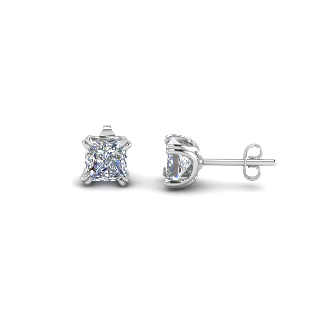 Princess Cut Stud Diamond Earring(2 Karat)