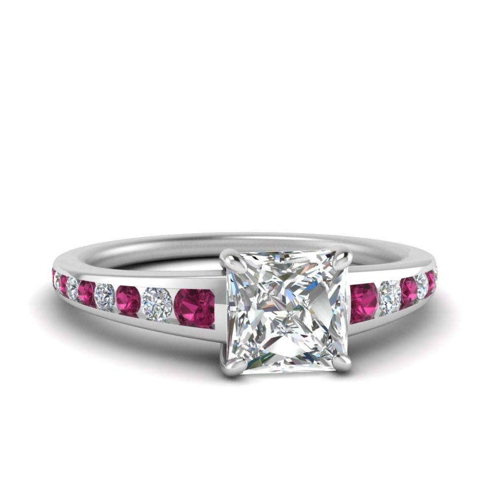 princess-cut-graduated-channel-moissanite-ring-with-pink-sapphire-in-FDENR1115PRGSADRPI-NL-WG