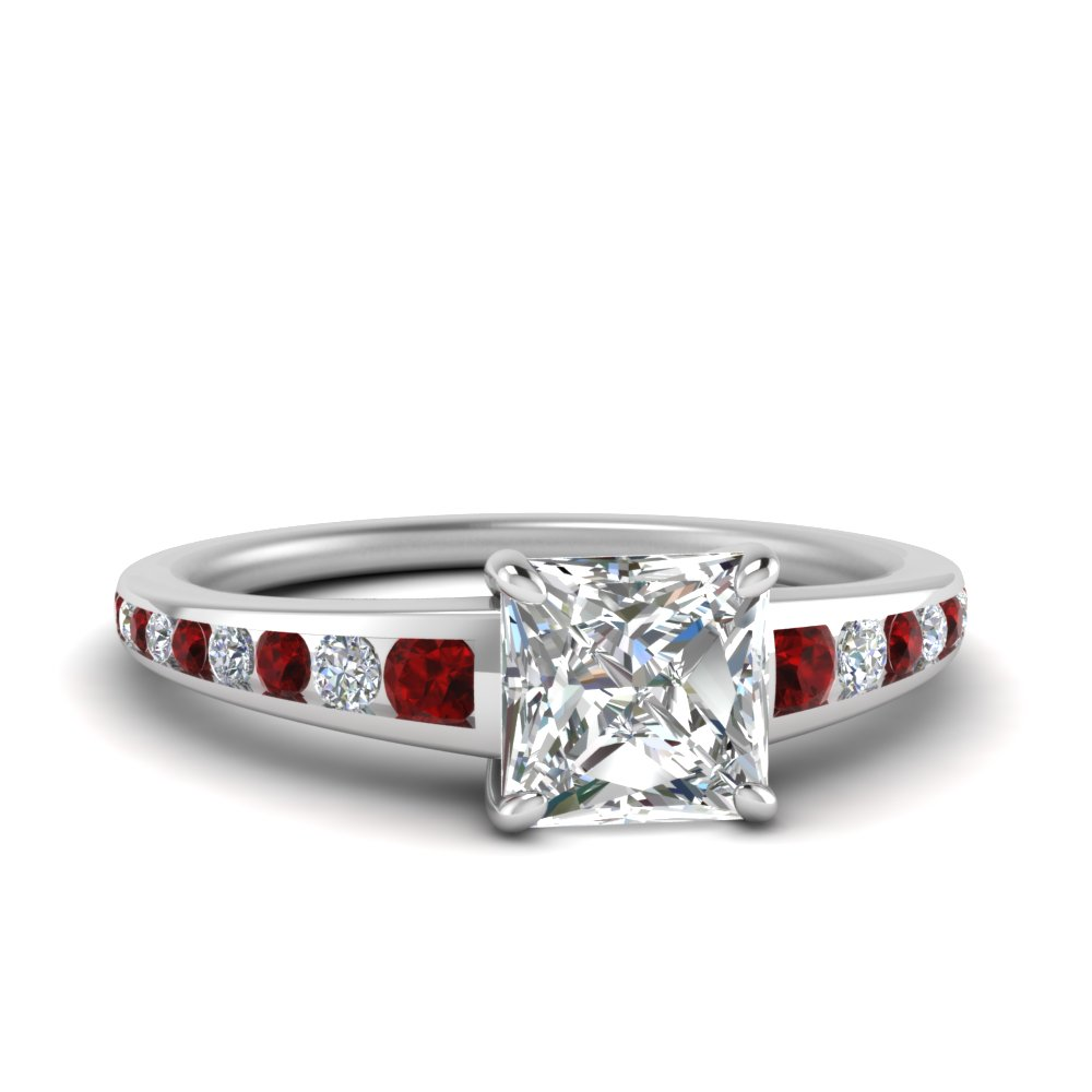 princess-cut-graduated-channel-diamond-ring-with-ruby-in-FDENR1115PRGRUDR-NL-WG