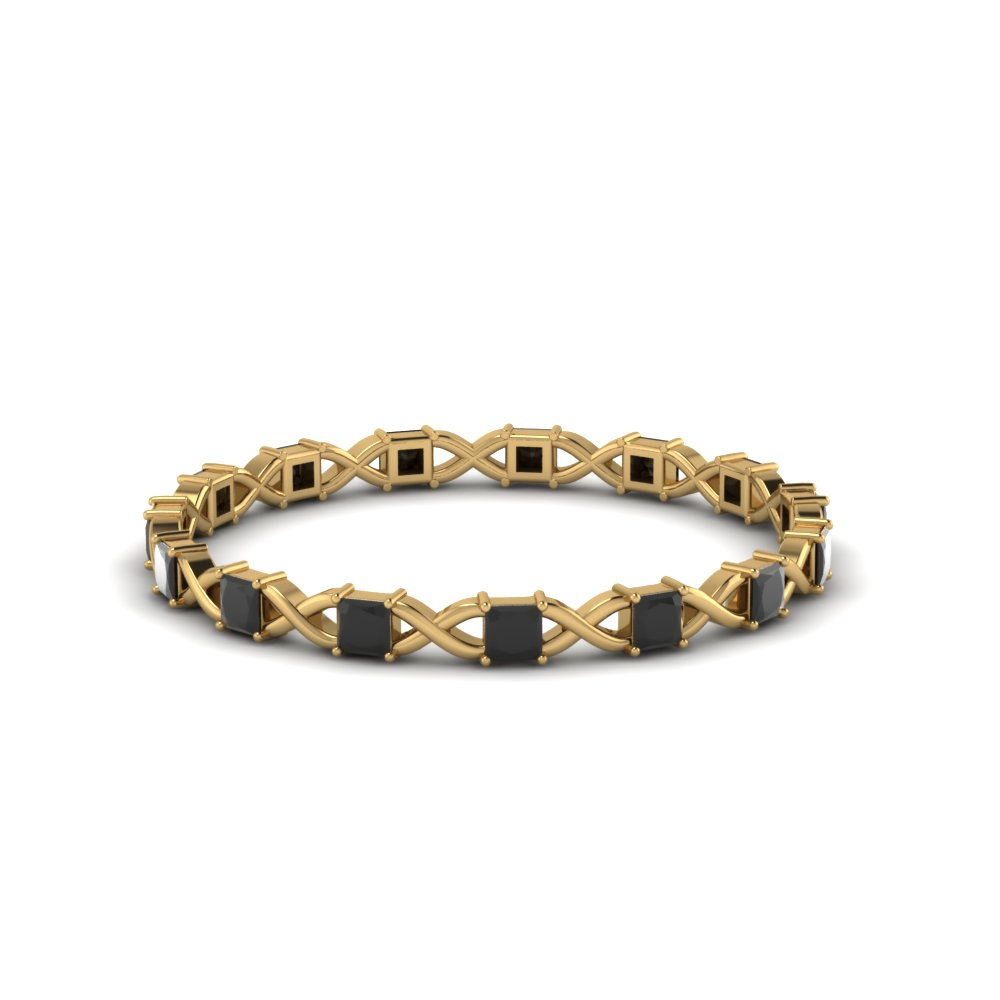 Black Diamond Thin Eternity Band