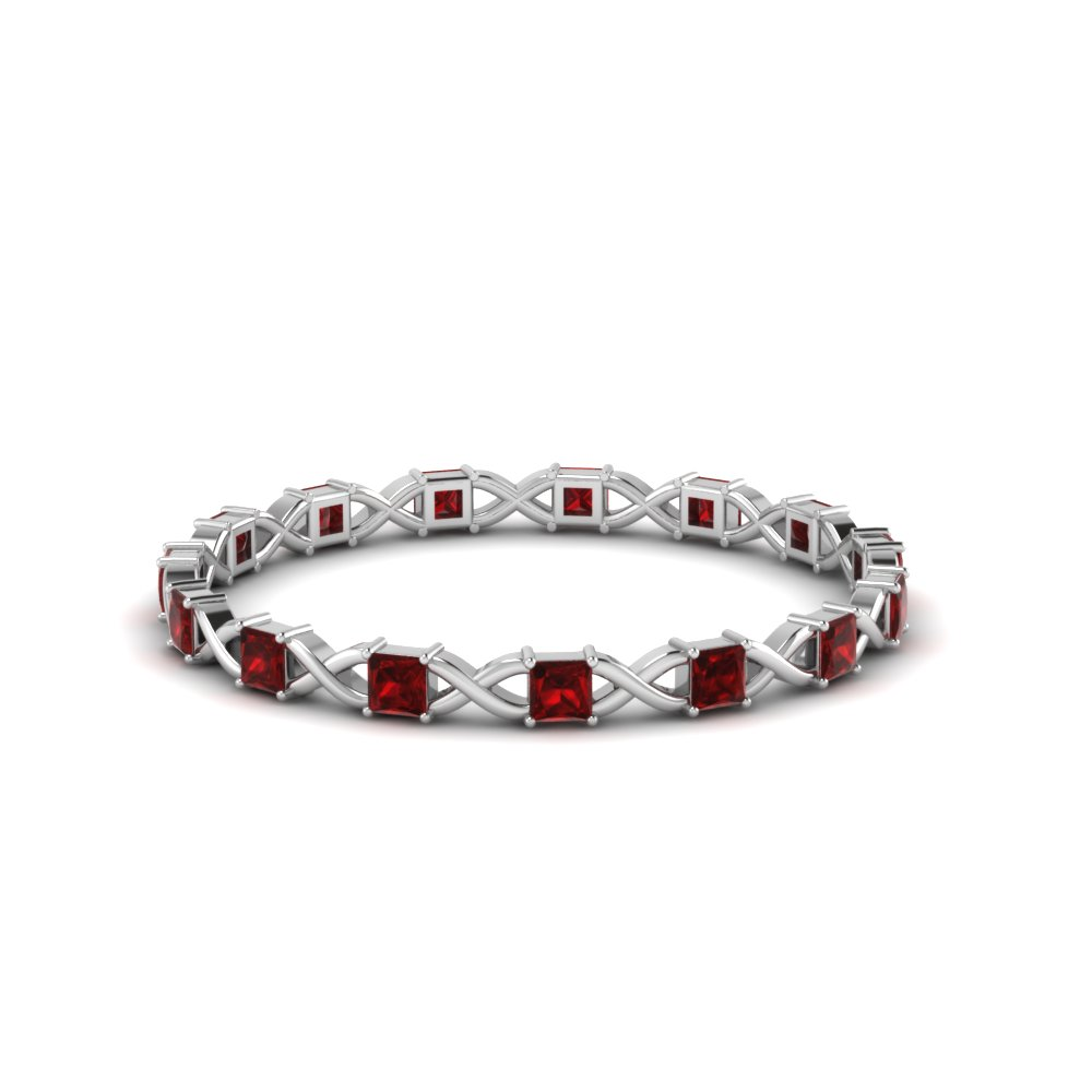 Accent Ruby Infinity Design Band