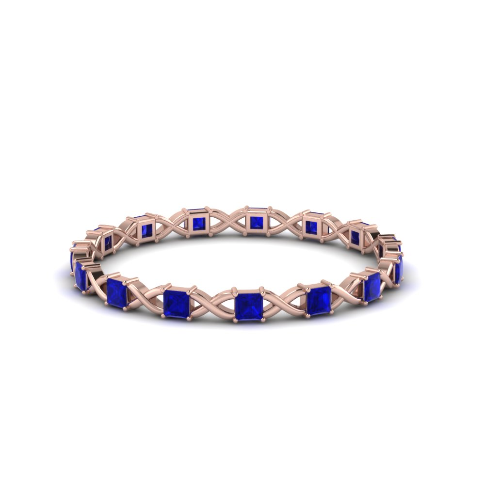 Sapphire Thin Eternity Wedding Band