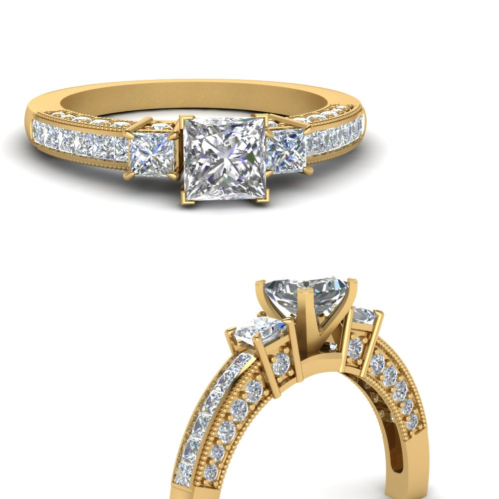 princess-cut-three-stone-channel-set-diamond-engagement-ring-in-14K-yellow-gold-FDENS1186PRRANGLE3-NL-YG