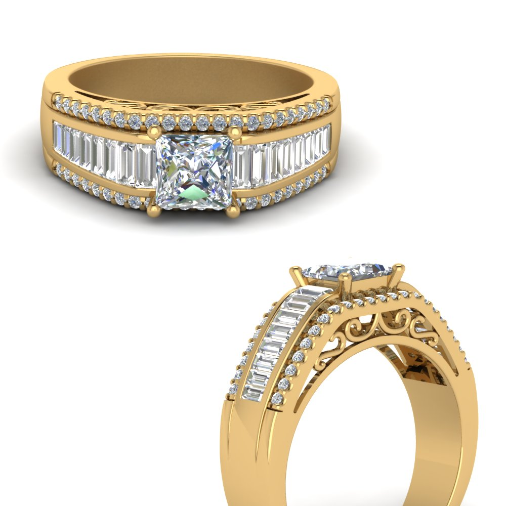 princess-cut-trio-baguette-diamond-wide-band-engagement-ring-in-FD65555PRRANGLE3-NL-YG
